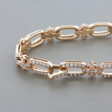 Diamond Gold Bow Bracelet