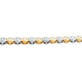 Neil Joseph Diamond Gold Hexagonal Bracelet
