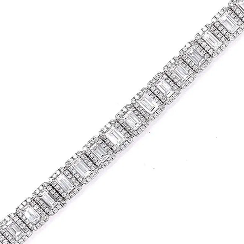 Magnificent Diamond Gold Tennis Bracelet