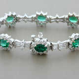 Emerald Diamond Gold Bracelet