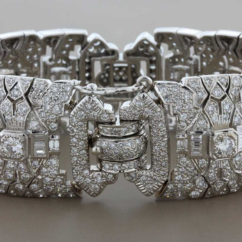 Estate Antique Style Diamond Gold Bracelet