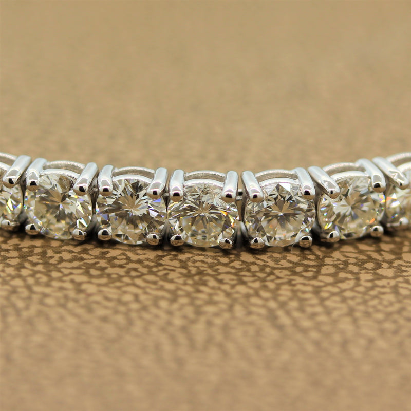 Classic Round Diamond Gold Tennis Bracelet