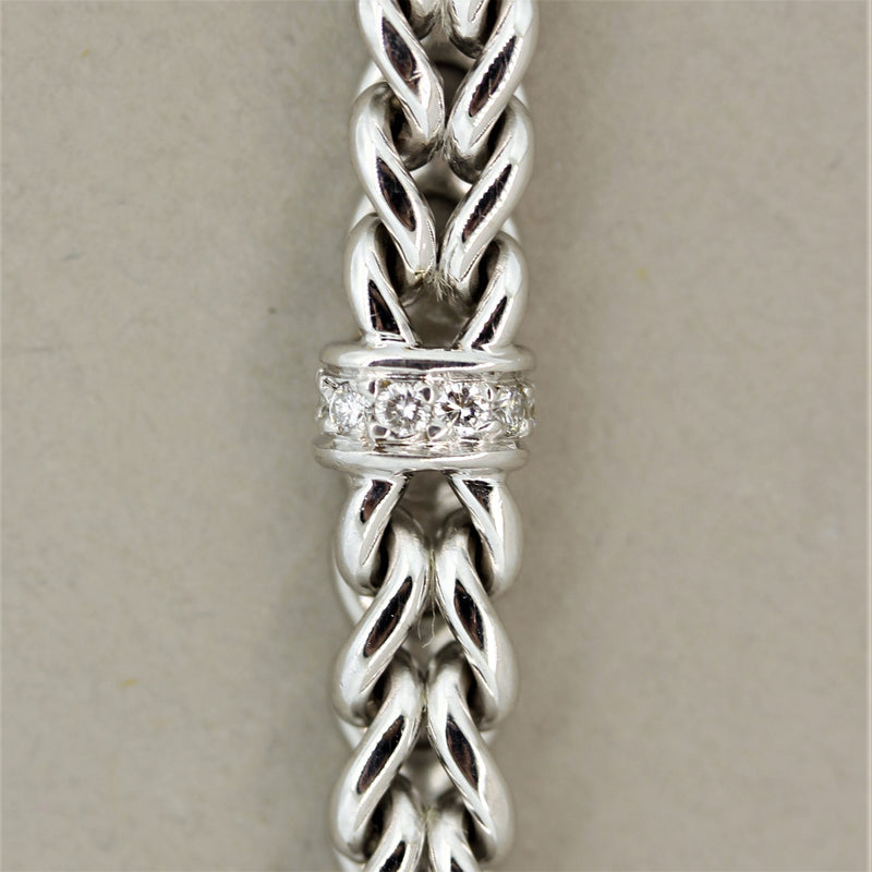 Diamond Gold Link Bracelet