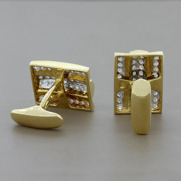 Estate Diamond Gold Cufflinks