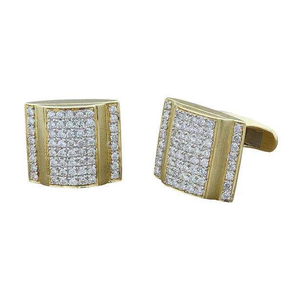 Estate Diamond Gold Cufflinks Box Design