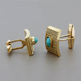 Estate Turquoise Gold Cufflinks