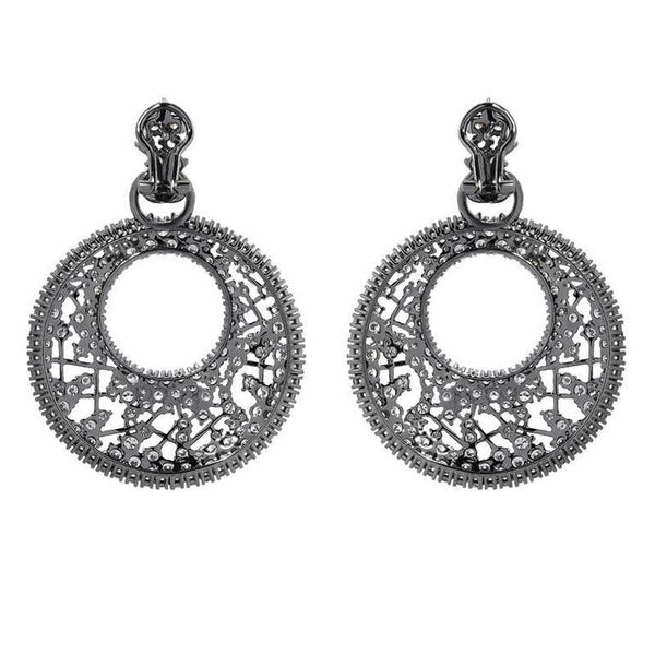 Diamond Gold Drop Web Earrings