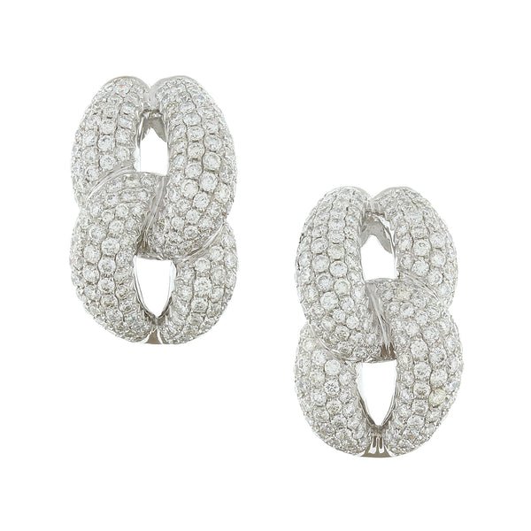 Linked Diamond Gold Earrings