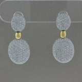 Diamond Two-Tone Gold Drop Earrings