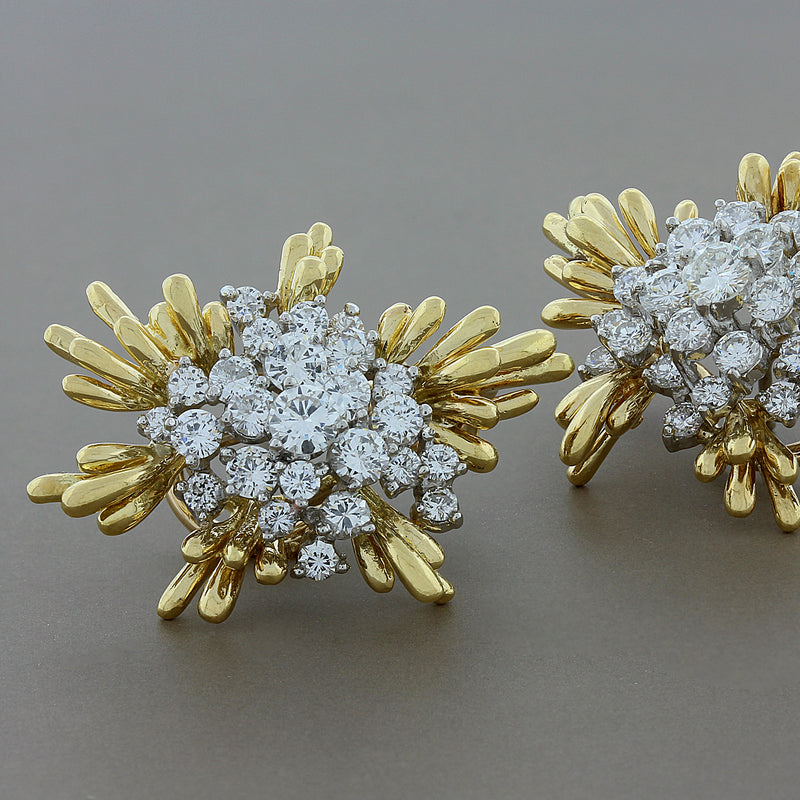 Kurt Wayne Diamond Blossom Gold Earrings