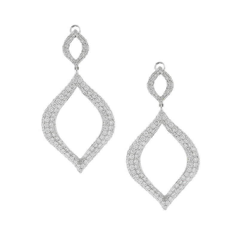 Diamond Princess Gold Drop Earrings
