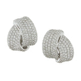 Modern Diamond Gold Earrings