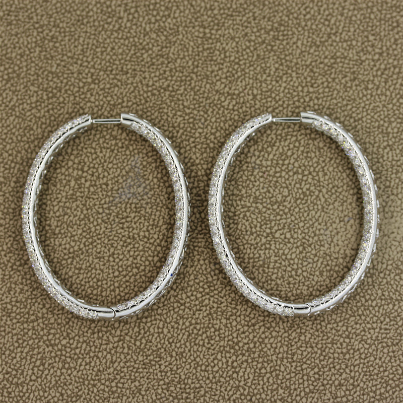 Exceptional Diamond Gold Hoop Earrings
