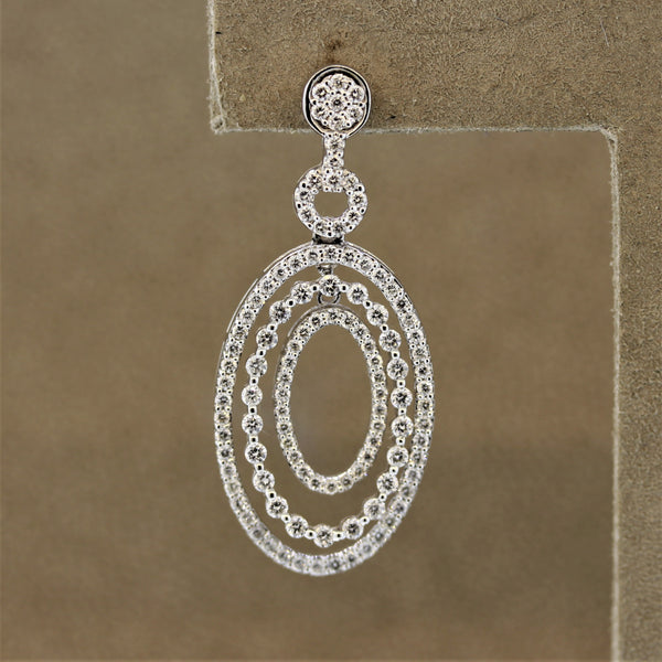 Diamond Gold Multi-Drop Earrings