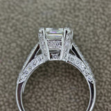2.62ct Emerald Cut Diamond Platinum Ring, GIA Certified