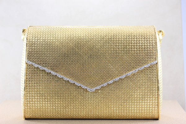Cartier Paris Diamond Gold Evening Purse