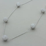 Diamond Gold Sphere Necklace