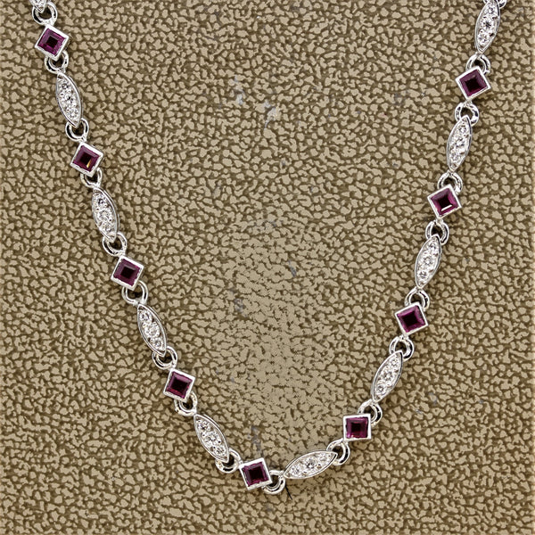 Ruby Diamonds by The Yard Gold Necklace