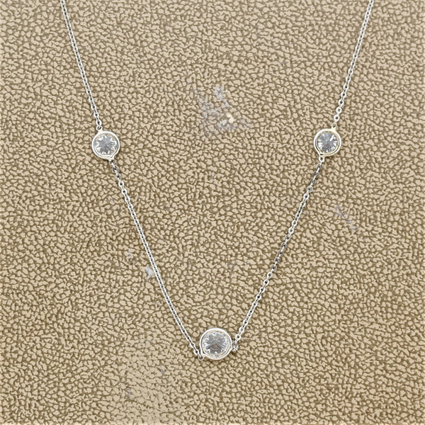 "Diamond Gold ""3-Stone"" Necklace"