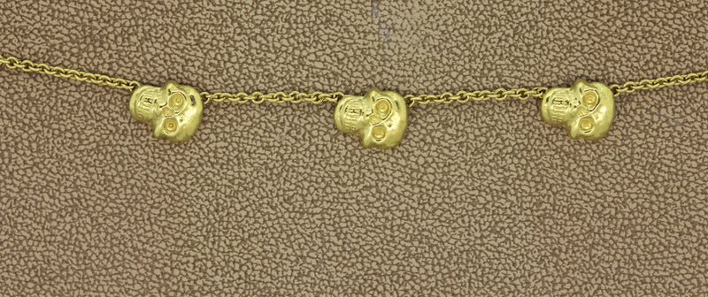 Estate Skull Gold Necklace