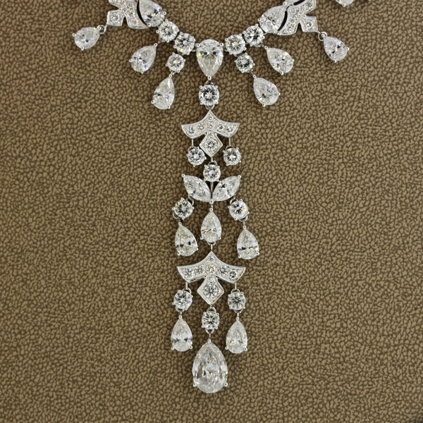 Magnificent Diamond Drop Dinner Necklace