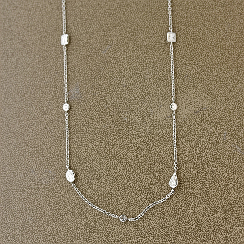 35-Inch Diamond by The Yard Gold Necklace