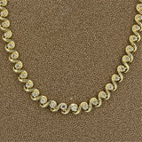 Diamond Twisted-Gold Tennis Necklace
