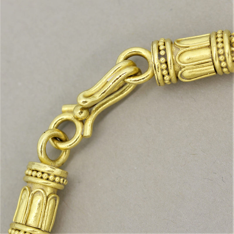 Ancient Coin Antique Style High-Gold Braided Necklace