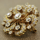 Late-Victorian Diamond Gold Starburst Brooch-Pendant, EGL F-VS1