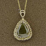 20.61ct Fancy Colored Diamond Gold Pendant, GIA Certified