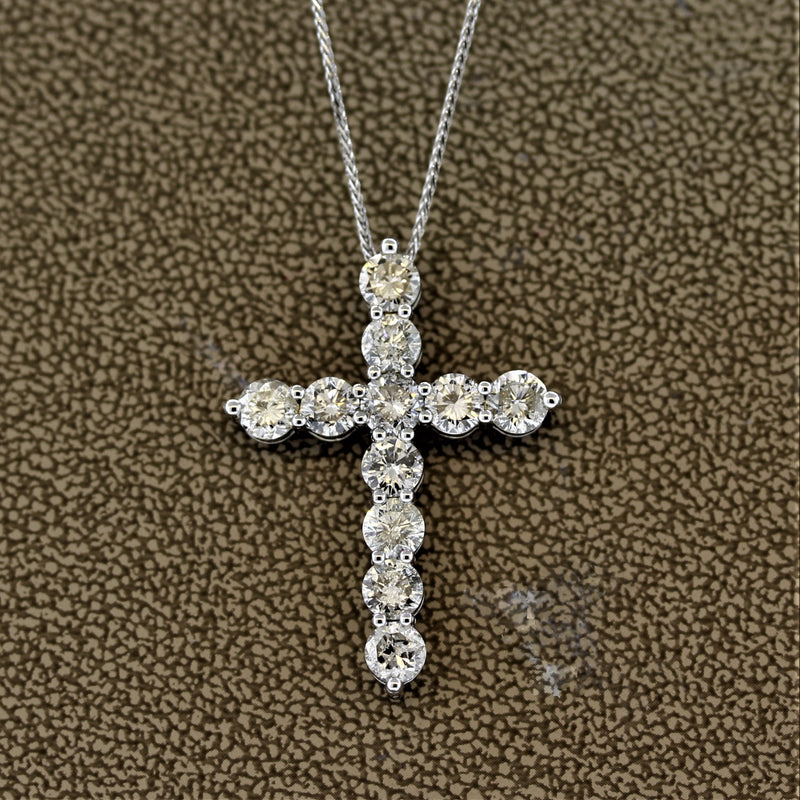 Diamond White Gold Cross Pendant
