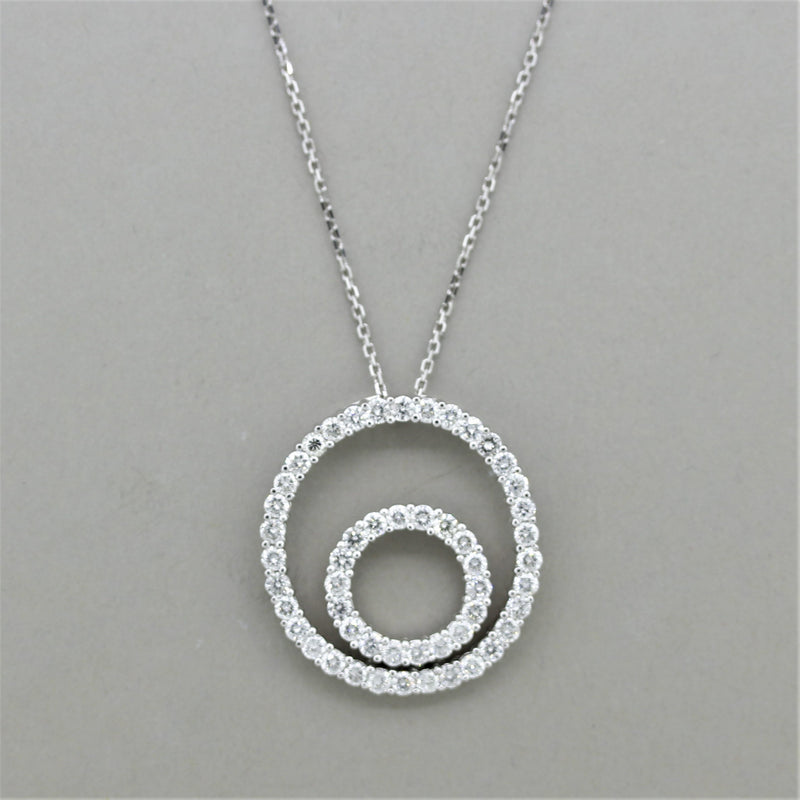 "Diamond Gold ""Double-Circle"" Pendant"