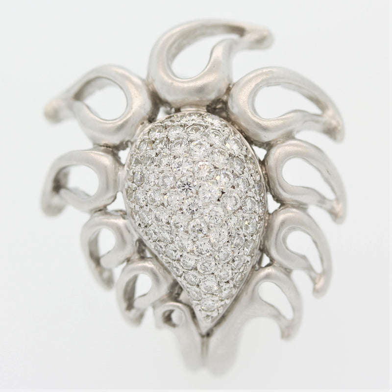 "Donald Huber Diamond Gold ""Flame"" Ring"