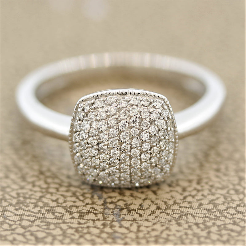 Diamond Pave Gold Ring