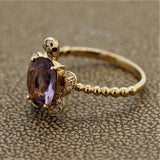Amethyst Diamond Gold Turtle Ring