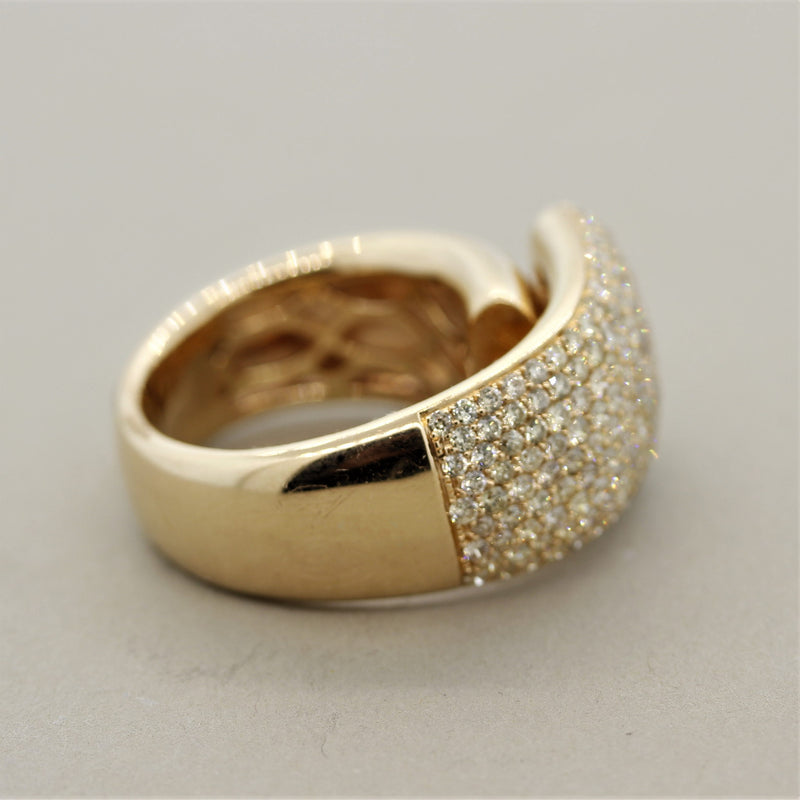 Diamond Gold Cocktail Ring
