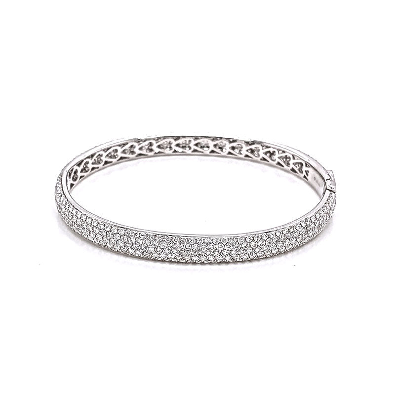 Diamond Pave Gold Eternity Bracelet