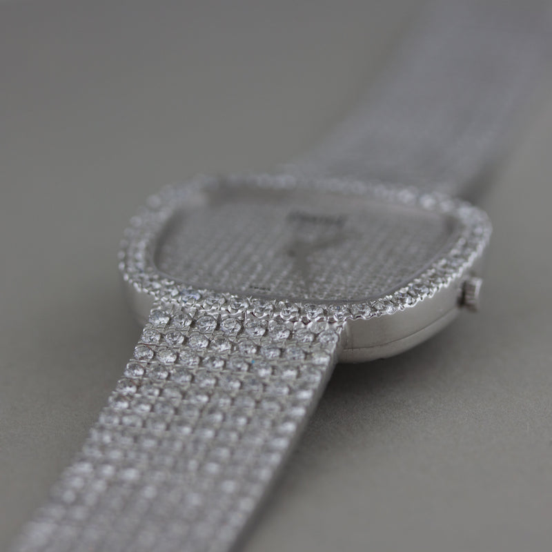 Piaget 18 Karat White Gold & Diamond Wristwatch