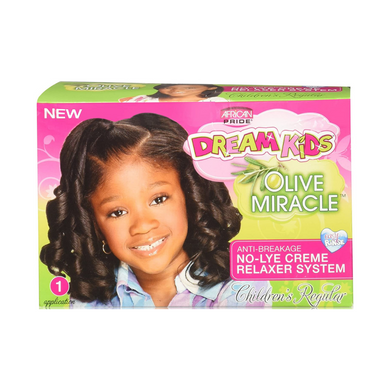 African Pride Dream Kids Olive Miracle No-Lye Relaxer - Regular