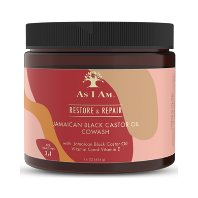 As I Am Jamaican Black Castor Oil CoWash 16oz with Vitamin C&E