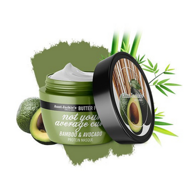 Aunt Jackie's Butter Fusions Not Your Average Curl Bamboo & Avocado Protein Masque 8oz