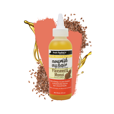 Aunt Jackie's Growth Oil Nourish My Hair Flaxseed & Monoi 4oz