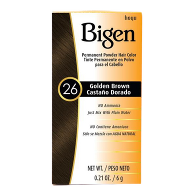 Bigen Permanent Powder Hair Colour 26 Golden Brown