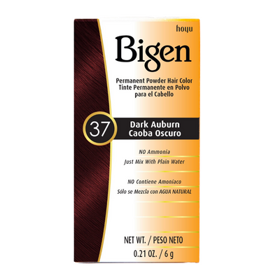 Bigen Permanent Powder Hair Colour 37 Dark Auburn 6g