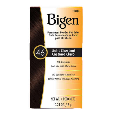 Bigen Permanent Powder Hair Colour 46 Light Chestnut 6g