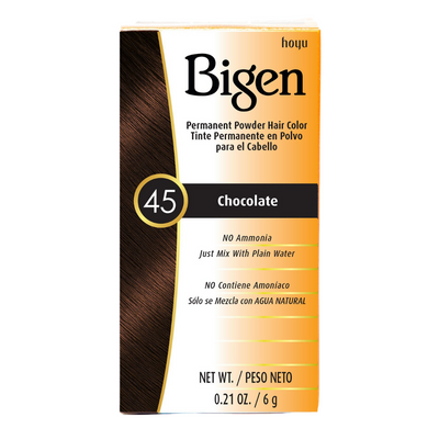 Bigen Permanent Powder Hair Colour 45 Chocolate 6g