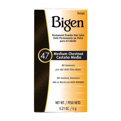 Bigen Permanent Powder Hair Colour 47 Medium Chestnut 6g