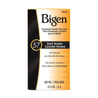Bigen Permanent Powder Hair Colour 57 Dark Brown 6g