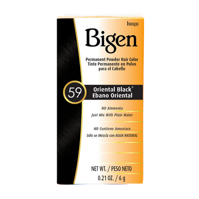 Bigen Permanent Powder Hair Colour 59 Oriental Black 6g