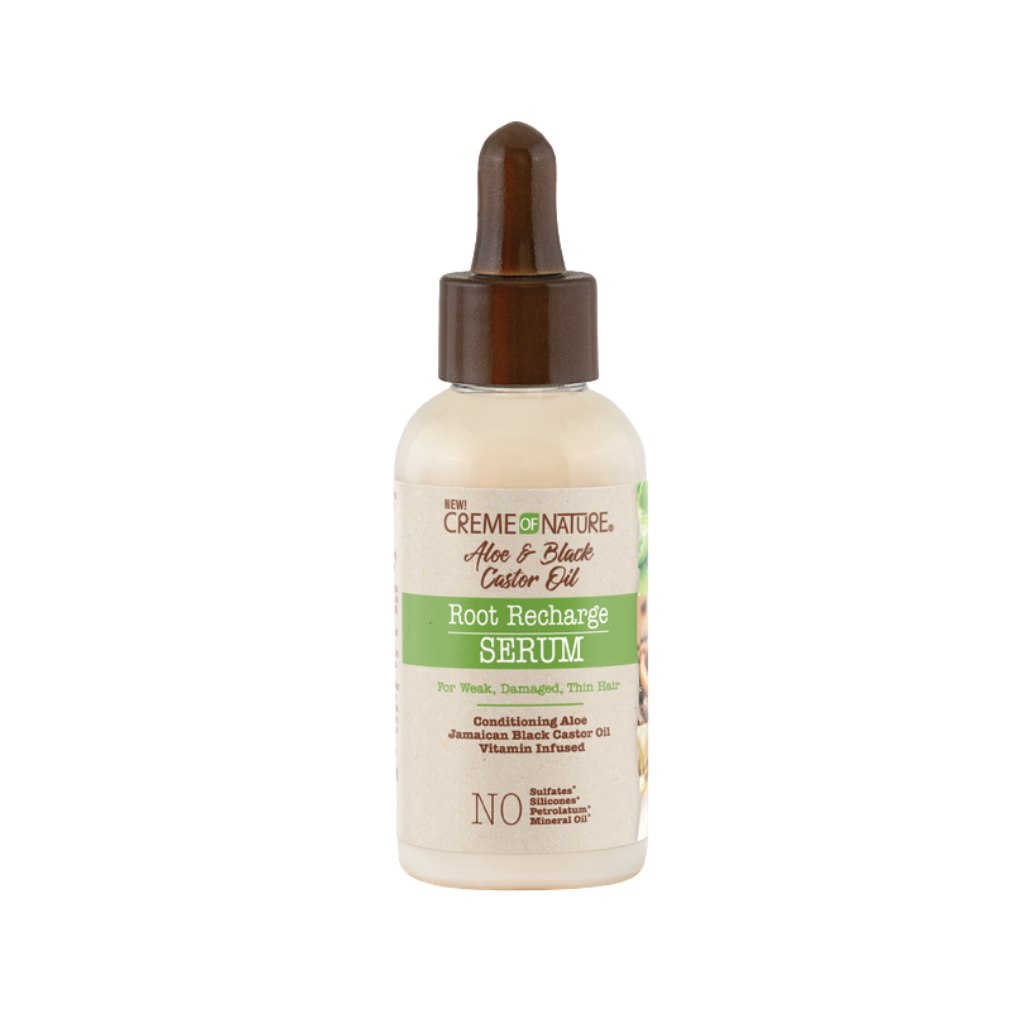 Creme Of Nature Aloe & Black Castor Oil Root Recharge Serum 2oz